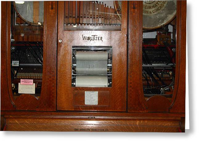 Nostalgic Wurlitzer Player Piano . 7d14400 Greeting Card