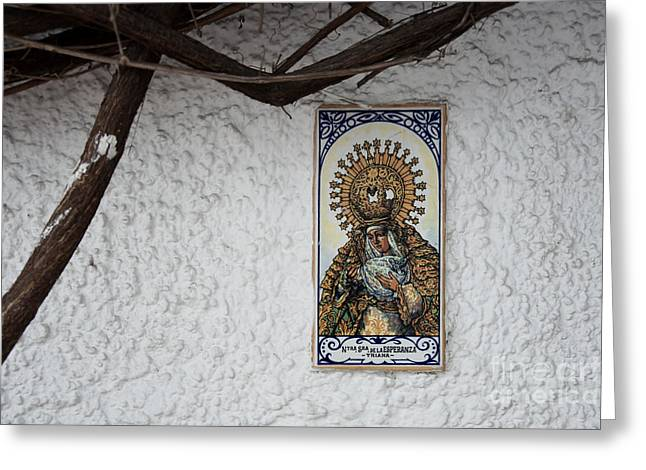 Nostra Senora Greeting Card by Agnieszka Kubica