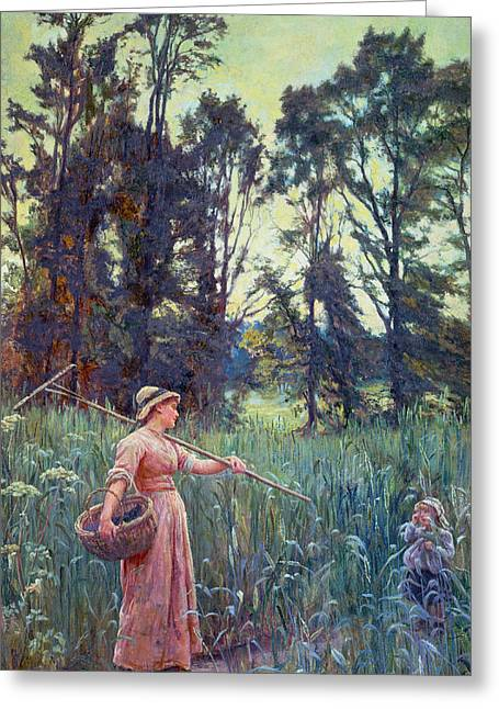 Not Far To Go Greeting Card by Frederick Morgan