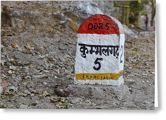 Not Far To Kumbhalghar Greeting Card by Kantilal Patel