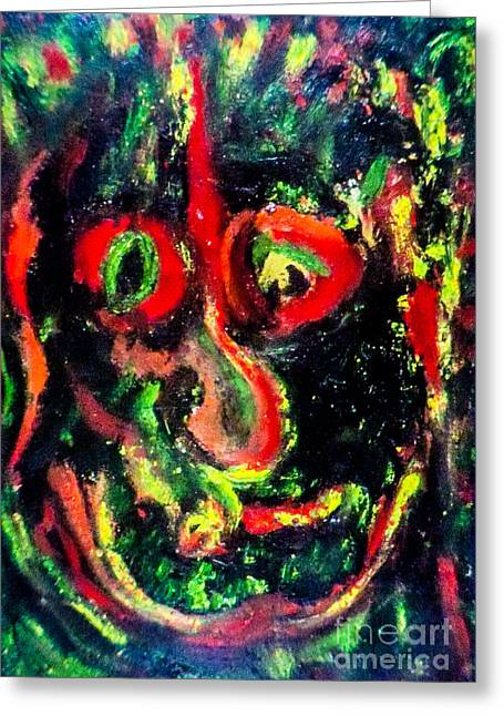 Not Just Another Pretty Face Greeting Card by Bill Davis