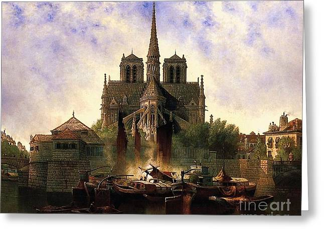 Notre Dame Cathedral Paris Greeting Card