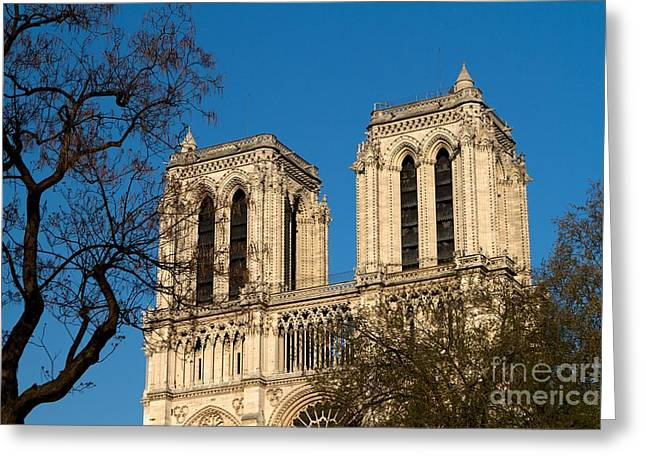 Notre Dame Towers Greeting Card