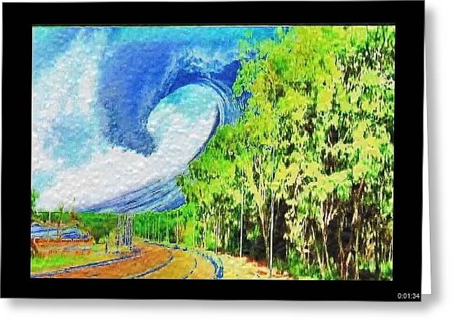Greeting Card featuring the painting November Road by Beto Machado
