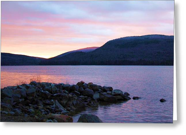 November Sunrise Greeting Card by Marie Fortin