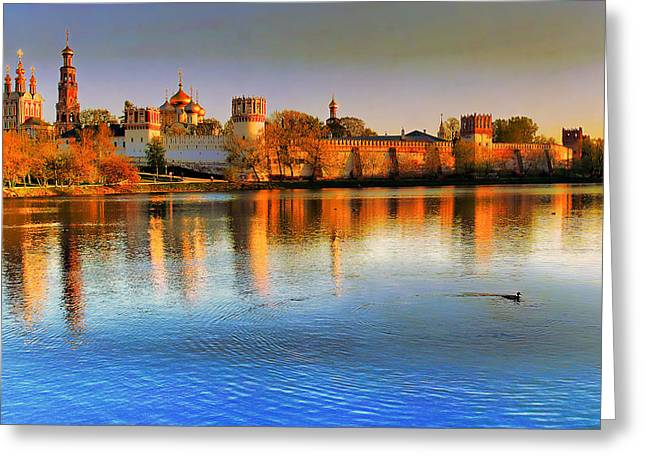 Novodevichy Convent Greeting Card