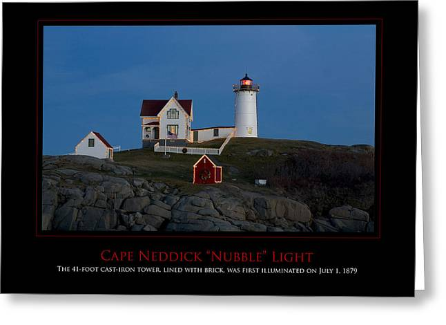 Nubble Light Greeting Card by Jim McDonald Photography