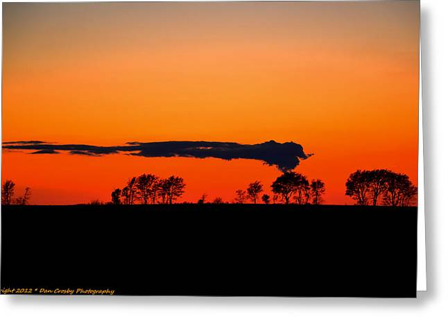 Nuclear Clouds Greeting Card by Dan Crosby