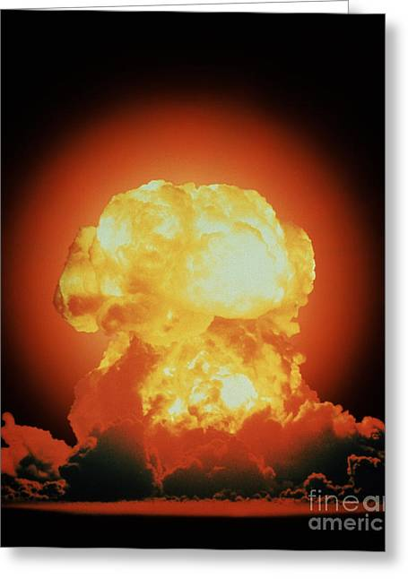 Nuclear Test Explosion Greeting Card by DOE / Science Source