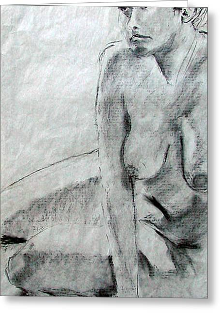 Nude 4794 Greeting Card by Elizabeth Parashis