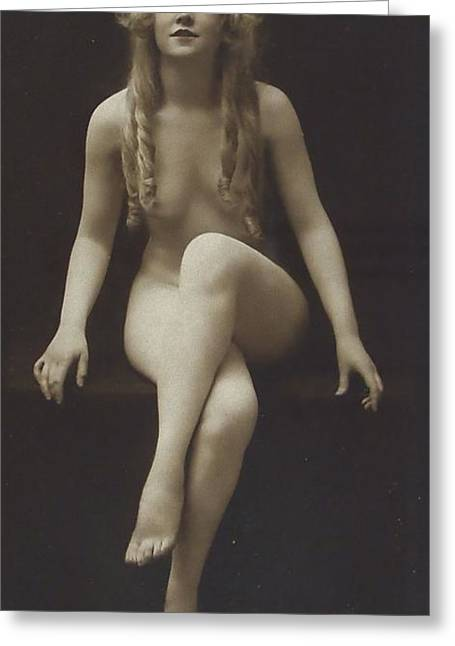 Nude Girl 1915 Greeting Card by Steve K