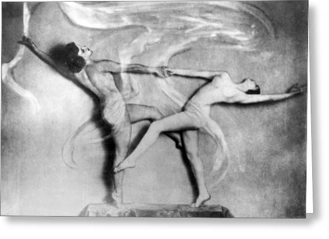 Nude Interpretive Dancers Greeting Card by Underwood Archives