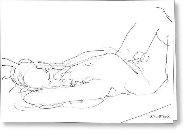 Nude-male-drawings-12 Greeting Card