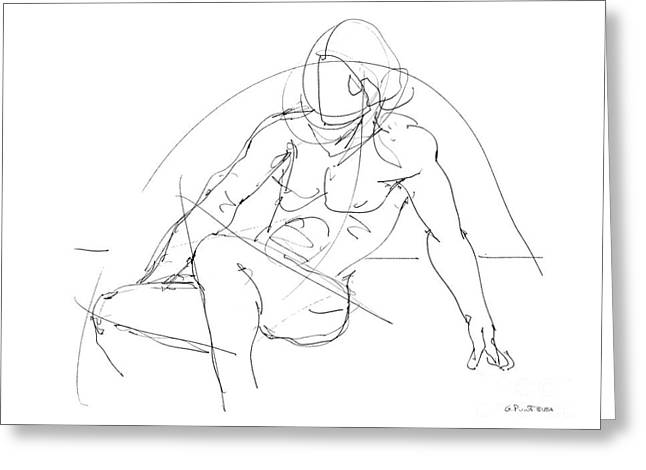 Nude-male-drawings-13 Greeting Card