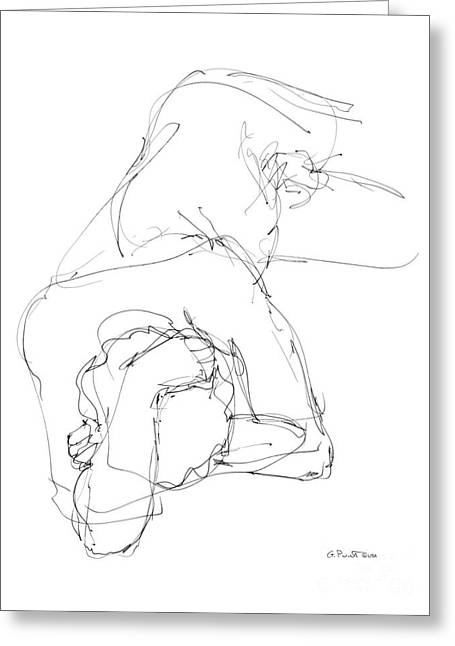 Nude Male Drawings 7 Greeting Card
