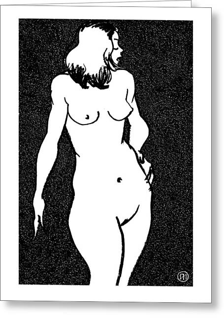 Nude Sketch 13 Greeting Card by Leonid Petrushin