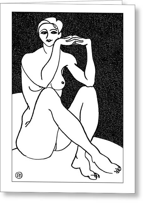 Nude Sketch 41 Greeting Card