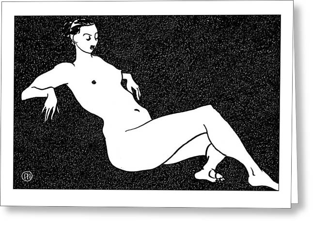 Nude Sketch 70 Greeting Card by Leonid Petrushin