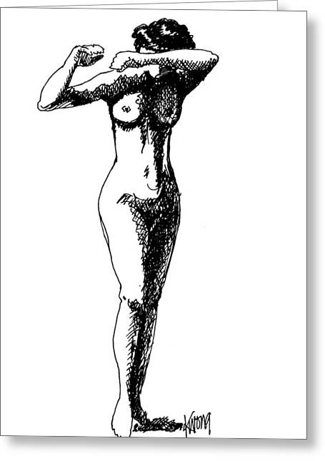 Nude Study 1 Greeting Card