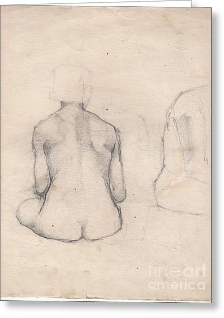 Nude Study 4 Greeting Card by Brian Francis Smith