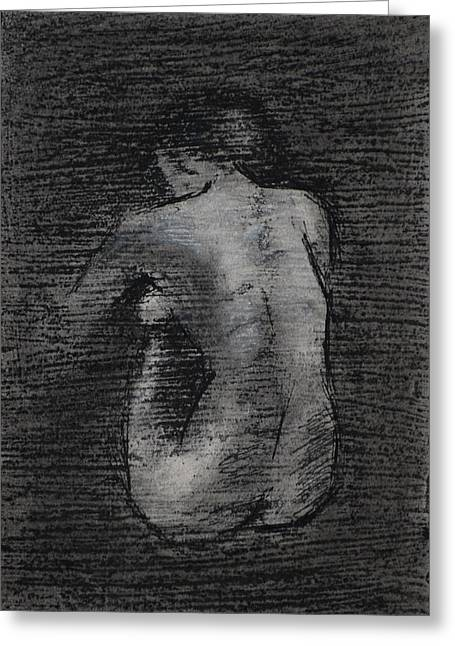 Nude Study....miniature Greeting Card