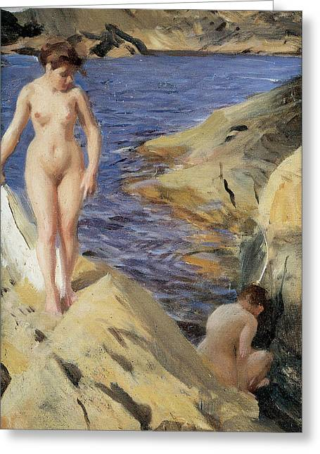 Nudes Greeting Card by Anders Zorn