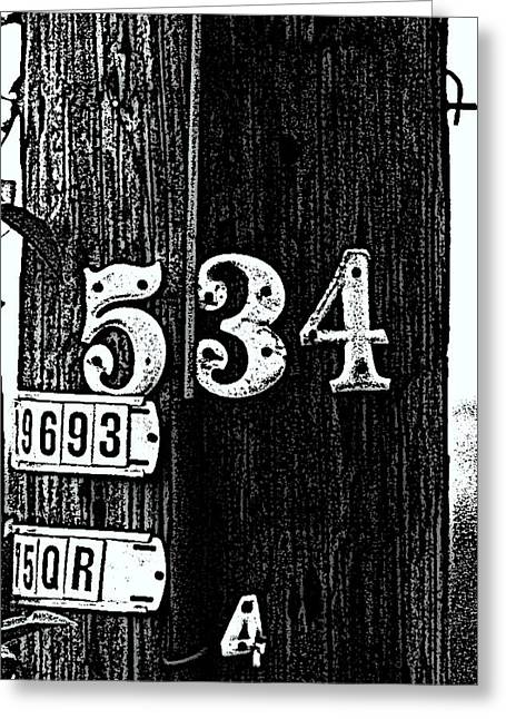 Numbers Greeting Card by Bret Worrell