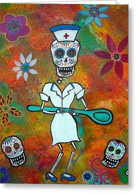 Nurse Greeting Card by Pristine Cartera Turkus