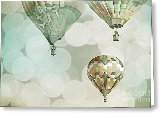 Nursery Mint Balloons Greeting Card