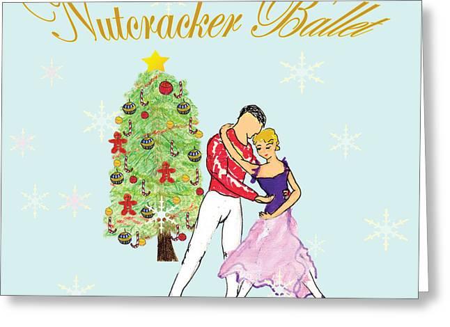 Nutcracker Ballet Romance Greeting Card