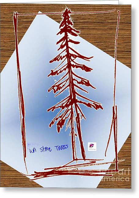 Nw Evergreen Tree Greeting Card