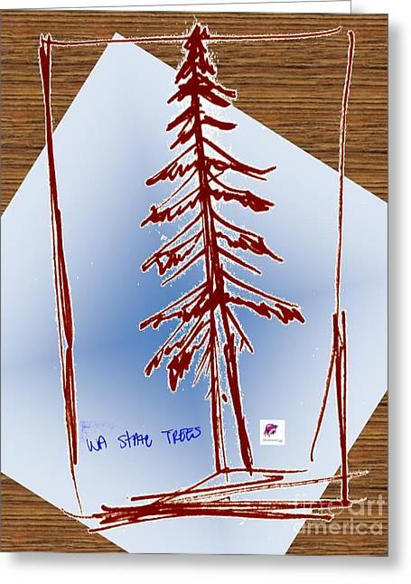 Nw Evergreen Tree Greeting Card by Carol Rashawnna Williams