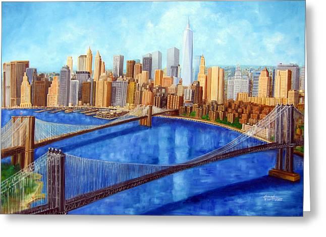 Ny City Resurrection Greeting Card by Leonardo Ruggieri