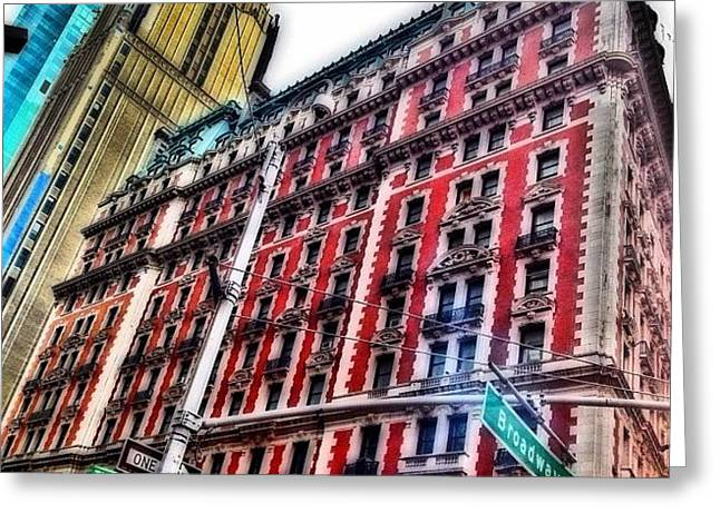 #ny #newyorker #architecture #broadway Greeting Card