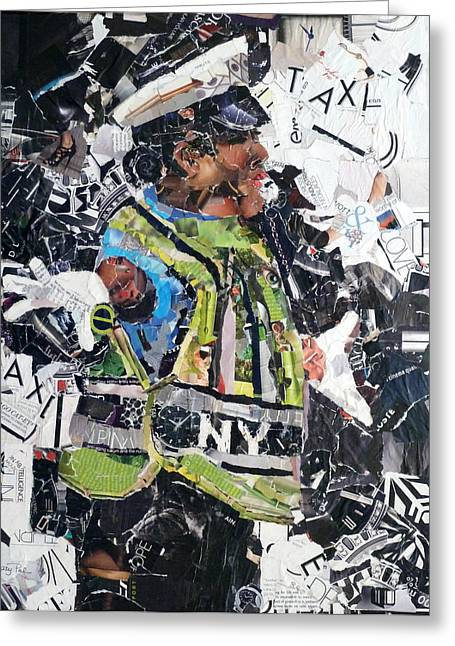 Ny Policewoman Greeting Card by Suzy Pal Powell