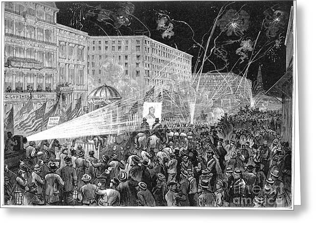 Nyc: Democrat Parade, 1876 Greeting Card by Granger