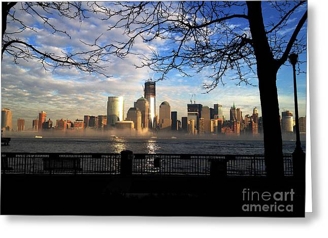 Greeting Card featuring the photograph Nyc Fog by Thanh Tran