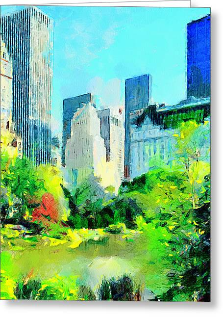 Nyc Grand Park Greeting Card