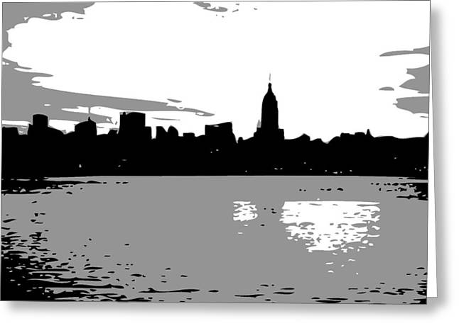 Nyc Morning Bw3 Greeting Card by Scott Kelley