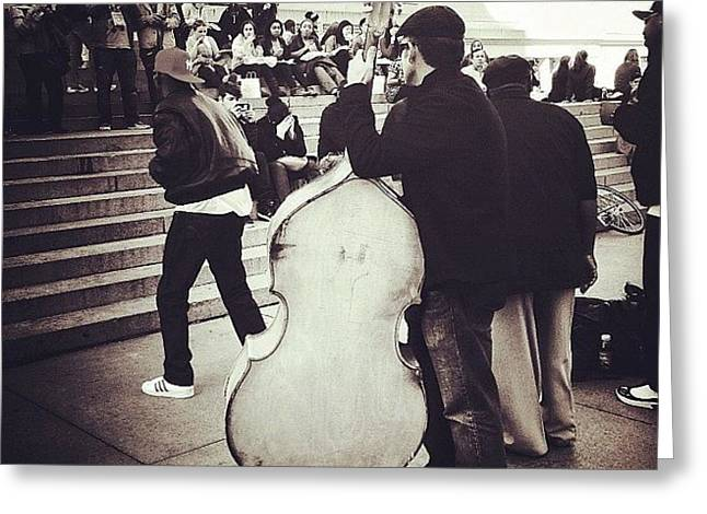 #nyc #ny #manhattan #newyork #cello Greeting Card