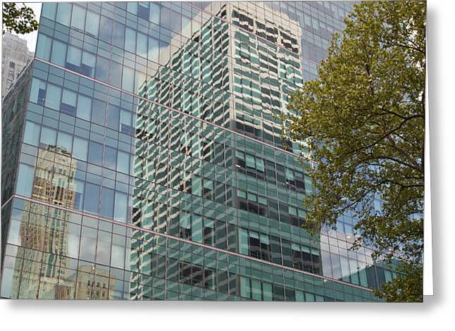 NYC Reflection 1 Greeting Card by Art Ferrier