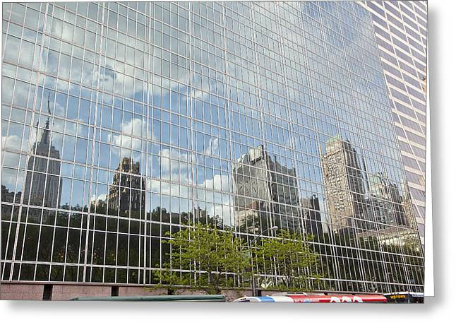 Nyc Reflection 3 Greeting Card by Art Ferrier