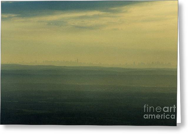 Nyc Skyline Greeting Card by Thomas Luca