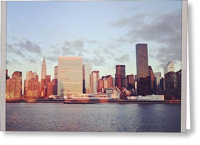 Nyc Sunrise Greeting Card