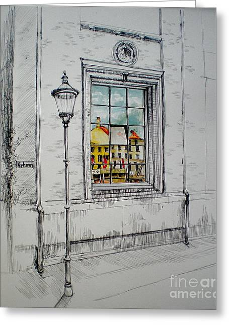 Nyhavn Reflected Greeting Card by Dominique Eichi