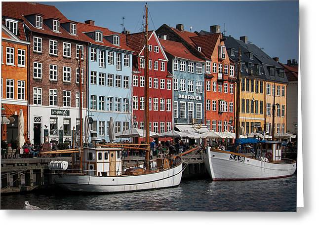 Nyhavn Scene Greeting Card