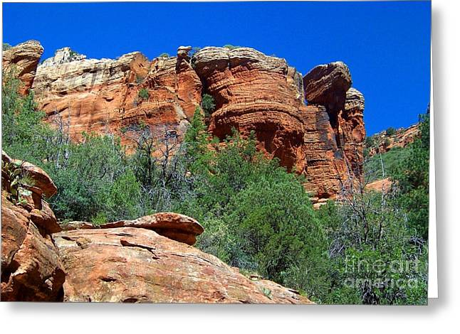 Oak Creek Canyon Balanced Rock Greeting Card