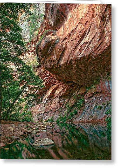Oak Creek Canyon Walls Greeting Card by Dave Dilli