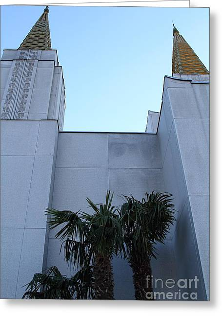 Oakland California Temple . The Church Of Jesus Christ Of Latter-day Saints . 7d11331 Greeting Card by Wingsdomain Art and Photography