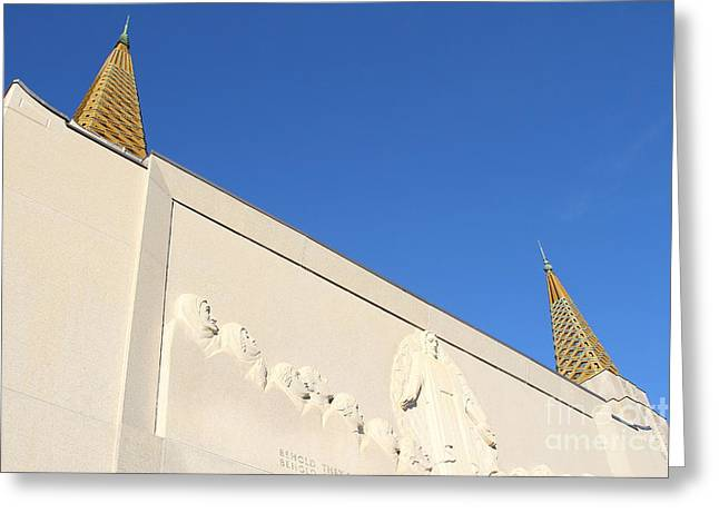 Oakland California Temple . The Church Of Jesus Christ Of Latter-day Saints . 7d11347 Greeting Card by Wingsdomain Art and Photography
